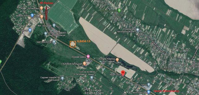 Земельна ділянка 0,85 га під комерцйну нерухомість Калуське шоссе