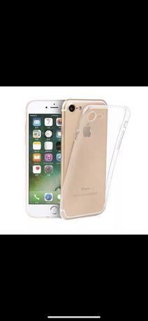 Capa traseira transparente silicone para iPhone 6 Plus 7 Plus 8 Plus