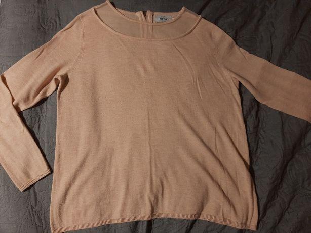 sweterek firmy ONLY cienki na lato morelowy brzoskwiniowy