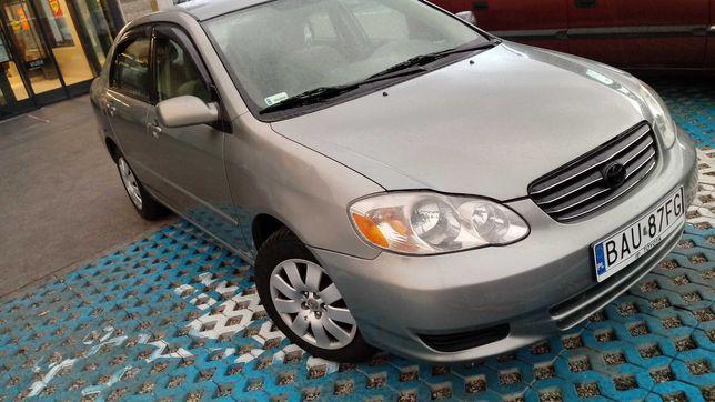 Toyota corolla 2003 r  1,8 benz +gaz wersja USA bd stan okazja