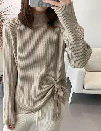 NOWY sweter z wiązaniem 36 38 S M
