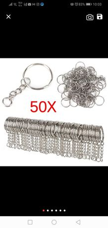 Conjunto de 50 argolas para porta chaves