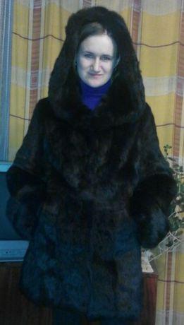 Продам черную шубу натуральный кроль