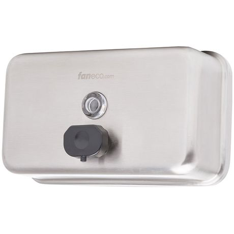 Dozownik do mydła w płynie poziomy Faneco TOP H 1 litr stal matowa