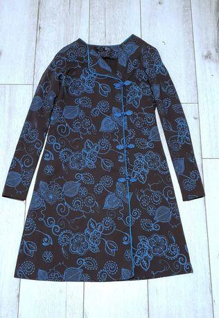 Narzutka, bluza damska ręcznie robiona w stylu mandaryńskim
