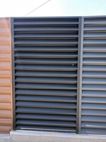 металеві жалюзі , ламелі на забор ,огорожа металева,паркан,ворота