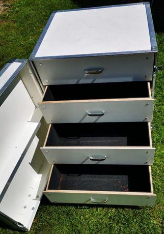 Mobilny stół barmański na kółkach LEWY 4 szuflady