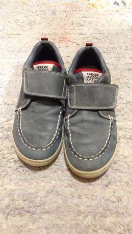 Buty chłopiece 34 geox szare półbuty połówki