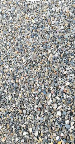 Żwir płukany (grys 2-8, 8-16) kruszywo kamień pod kostkę