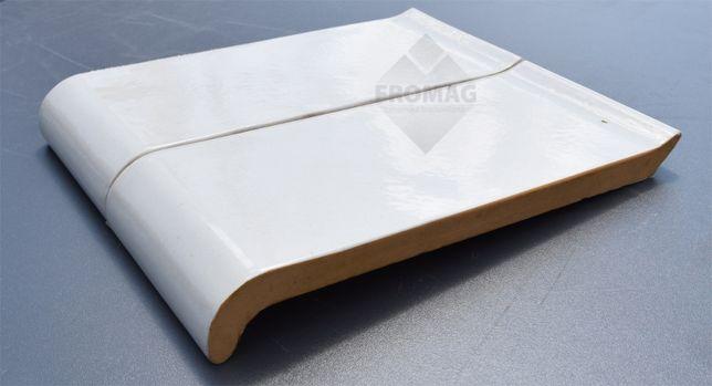 Płytki parapet Biały S kształtki ceramiczne parapety Fromag