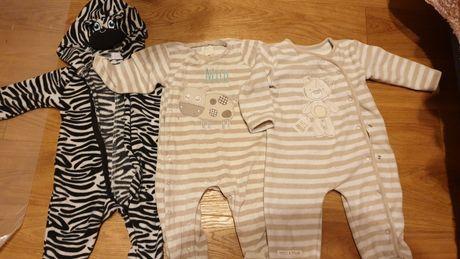 Pajace piżamy  welurowe ciepłe rozm 74 cm f&f, Smyk