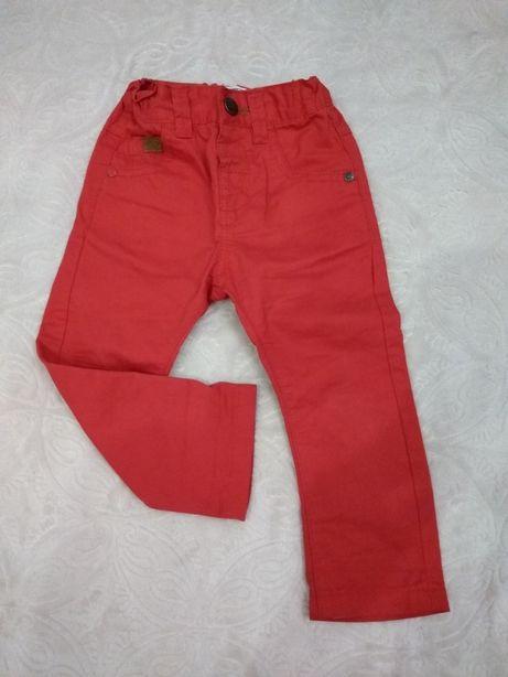 Червоні брюки NEXT на хлопчика 86 см