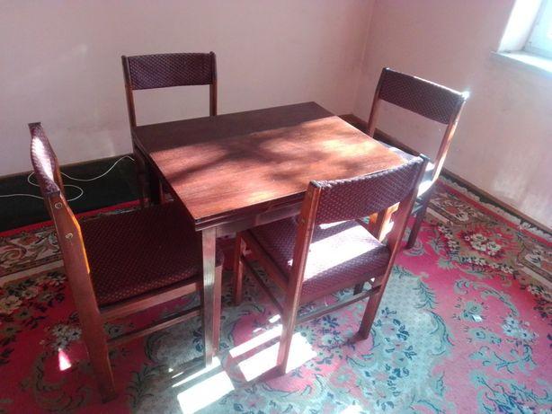 stół i krzesła z PRL-u