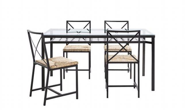 Stół z krzesłami Ikea GRANAS komplet
