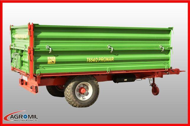 Przyczepa jednoosiowa T654/2 5 ton Pronar RABATY