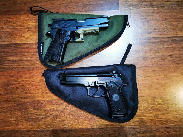 Zestaw Replika pistolet Colt 1911 Green Gas ASG dużo dodatków!