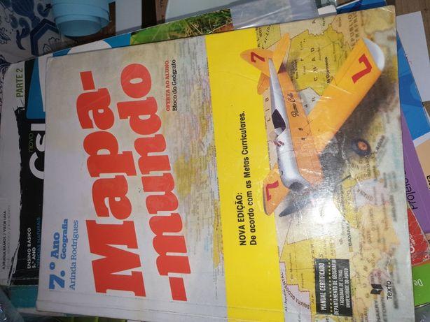 mapa mundo manual + caderno actividades 7 ano