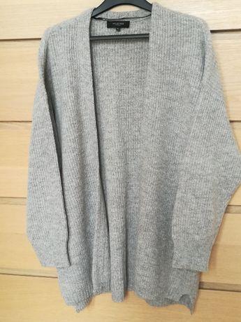 Sweter kardigan Selected Femme, wełna i wełna z jaka, r. XL, NOWY