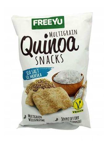 udostępnij QUINOA Snacks z solą morską FREEYU 70g x18