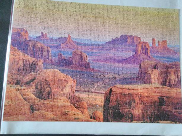 Puzzle 1000 Szlakiem Odkrywców - Dolina Monumentów USA