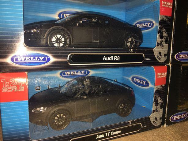 Welly UNIKAT! Audi TT lub Audi R8 czarny matowy, skala 1:24
