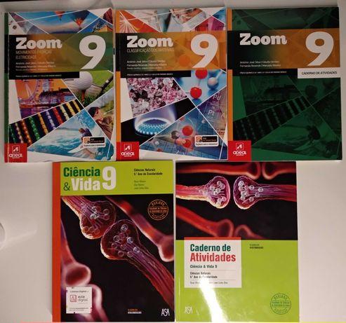Ciência & Vida e Zoom 9 - Manuais e Cadernos de Atividades - NOVOS
