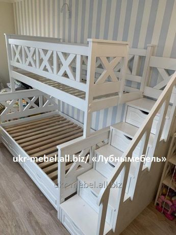 Кровать двухъярусная Оскар, двоярусне (двоповерхове) ліжко
