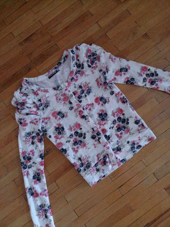 Кардиган Royalchicks кофта біла квітковий принт светр