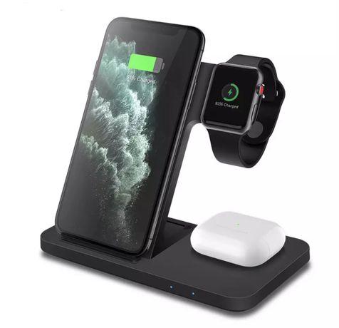 Беспроводная зарядка, 3 в 1 для Iphone Airpords Apple Watch, Airpower