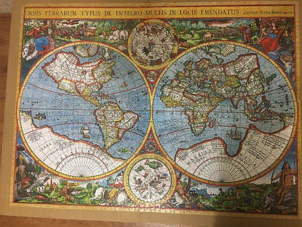 Пазл Карта мира 1607 года на 3000 элементов