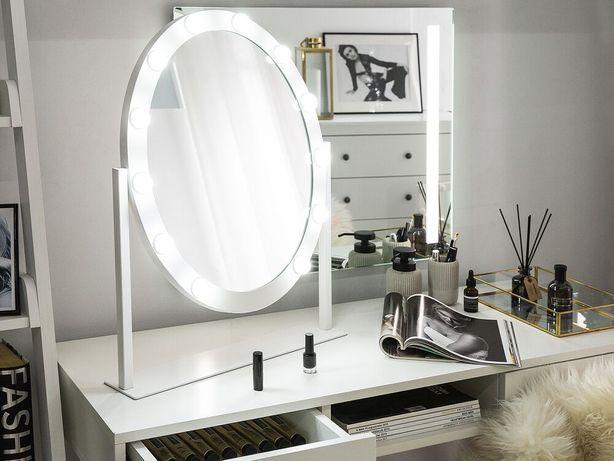 Espelho de pé com iluminação LED 50 x 60 cm branco ROSTRENEN - Beliani