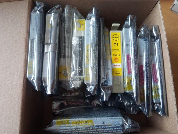 Tusz do drukarki Epson i inne, zamienniki tonery czarny, żółty magenta