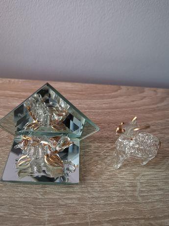 Figurki szklane- żółwik i koza