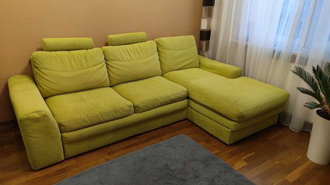 Narożnik rozkładany , kanapa, sofa.  Warszawa. Dwa pojemniki.