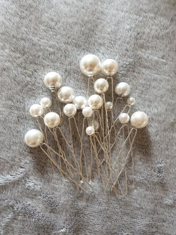 Spinki wsuwki perły na ślub, komunie