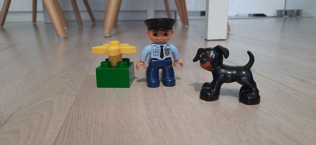 Lego duplo policjant z psem 5678
