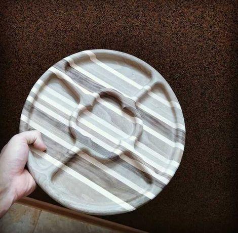 Дерев'яний посуд з дерева(менажниці) ручної роботи