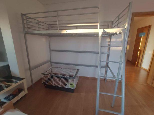 RAMA ŁÓŻKA łóżko na antresoli piętrowe IKEA SVARTA