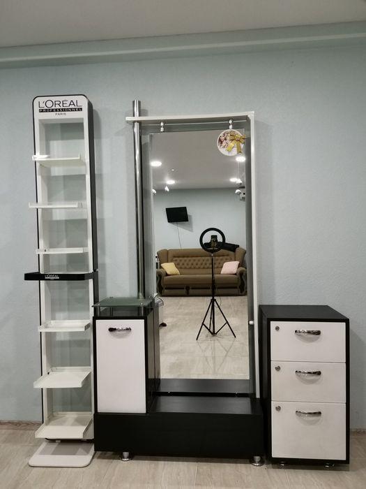 Рабочее место парикмахера.. Зеркало с тумбочкой Одесса - изображение 1