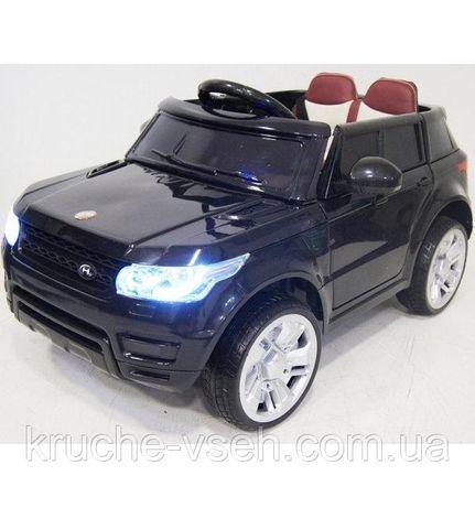 Джип Land Rover M 3402 EBLR, детский электромобиль, кожа, EVA, пульт