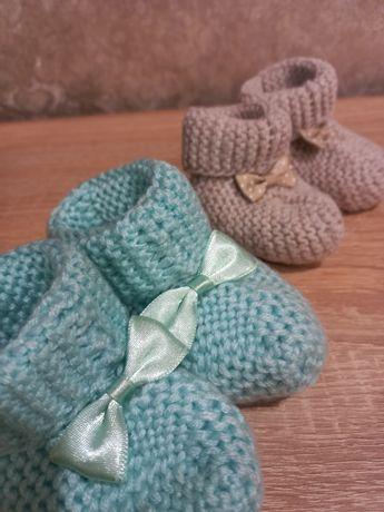 Тёплые-вязанные носочки