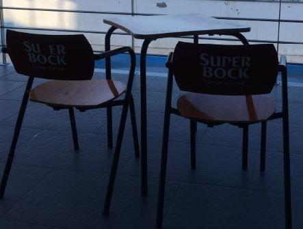 Cadeiras e mesa SUPER BOCK original