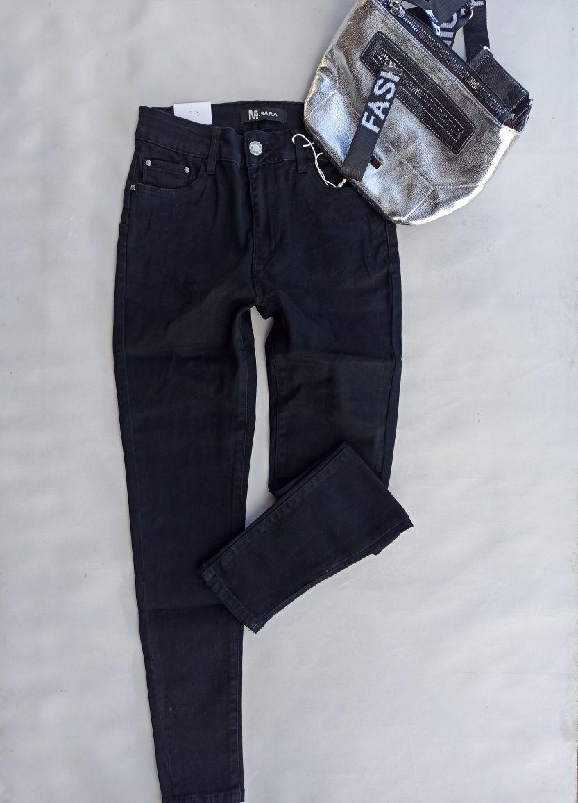 Czarne rurki PUSH UP rozmiar 38