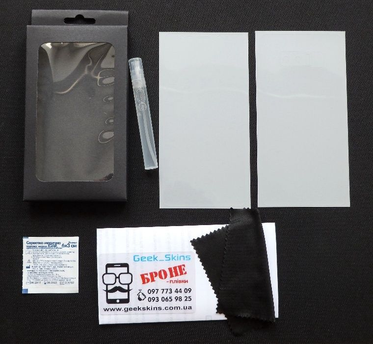 Комплект БРОНЕ плівок Samsung Galaxy A8 A8 Plus защитная пленка плівка Львов - изображение 1