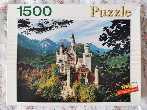 Puzzle King 1500 elementów, Niemcy zamek Neuschwanstein, unikat