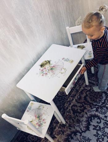 """Детский стол и стул """"Девочка-Принцесса"""" столик-парта (варианты)1-7 лет"""