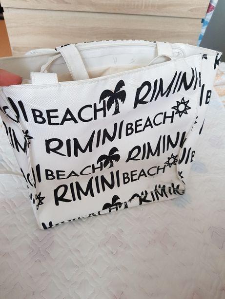 Torebka torba Rimini Beach Włochy Biało czarna