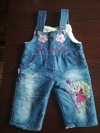 Продам зимний джинсовый комбинезон