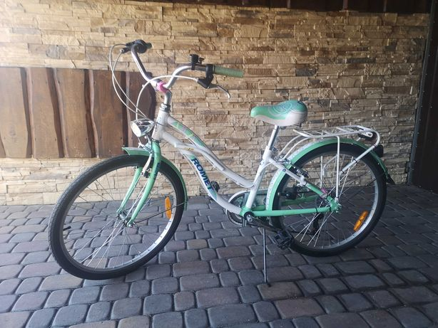 rower  Romet koloru miętowego