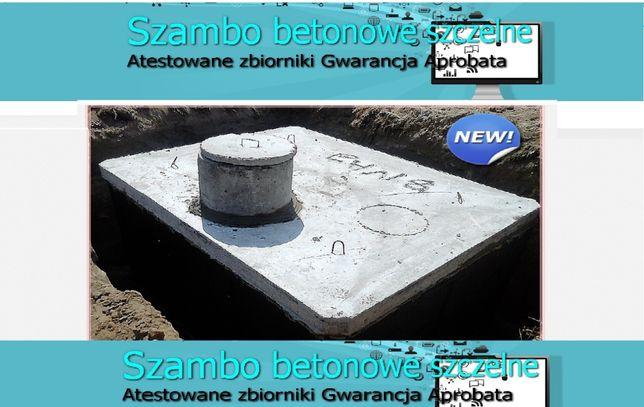 SZAMBO betonowe 4m3 SZAMBA zbiornik na deszczówkę, kanał samochodowy
